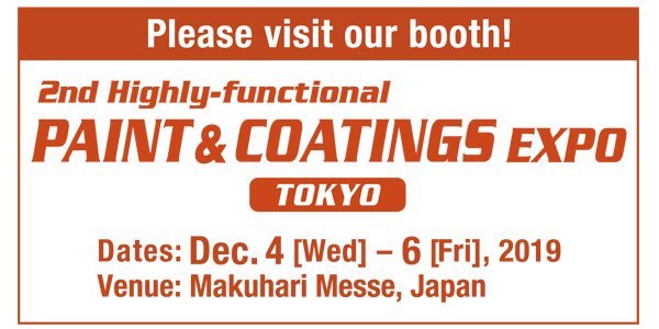 PAINT & COATINGS EXPO 2019 in Japan